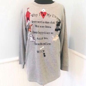 Why I Love My Dog Quacker Factory Sweatshirt 1X